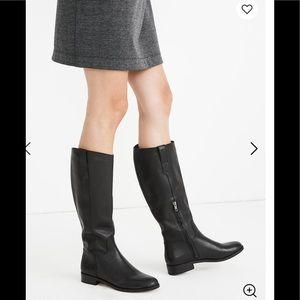 NWT Madewell sz 11 Winslow knee high black boots